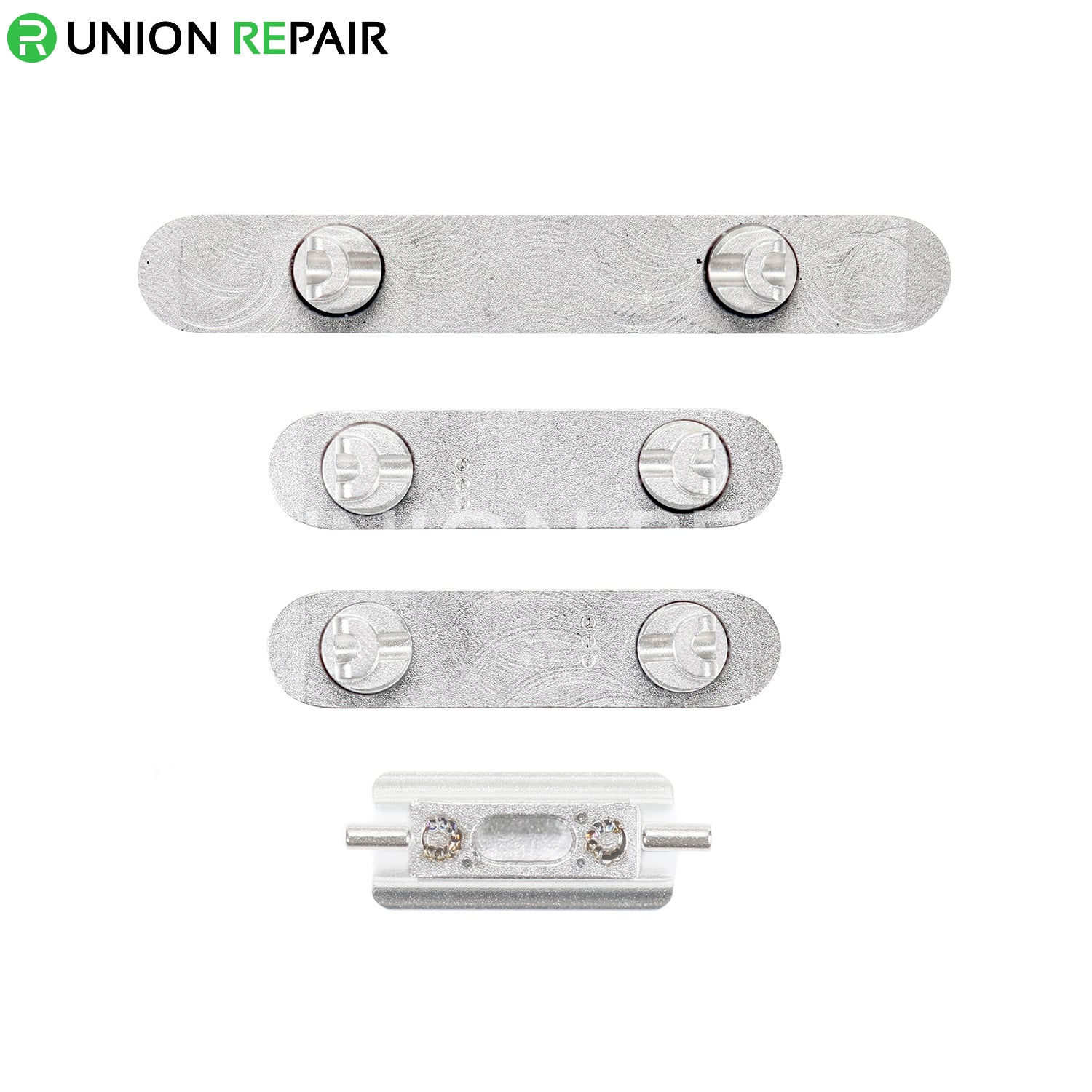 Replacement for iPhone Xs Max Side Buttons Set - Silver
