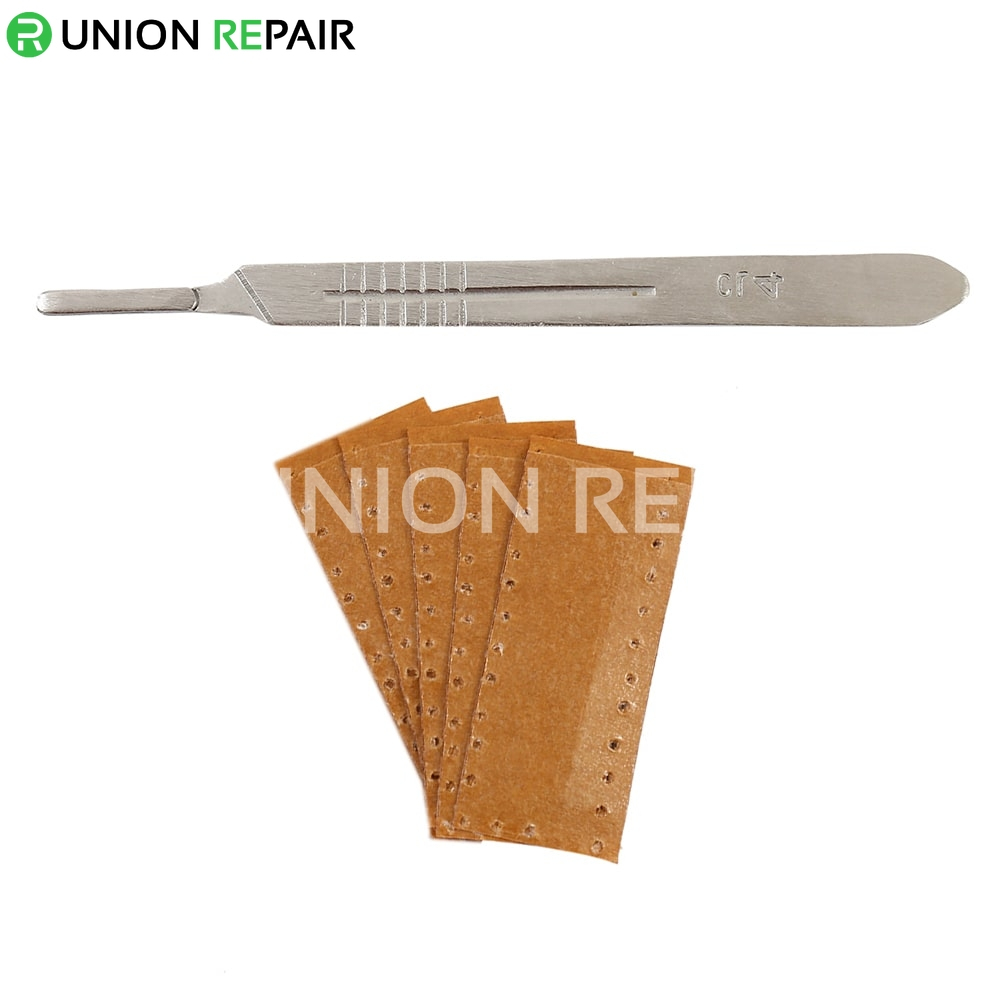 Super-Hard Stainless Steel Surgical Blades (Handle with 10pcs Blades )