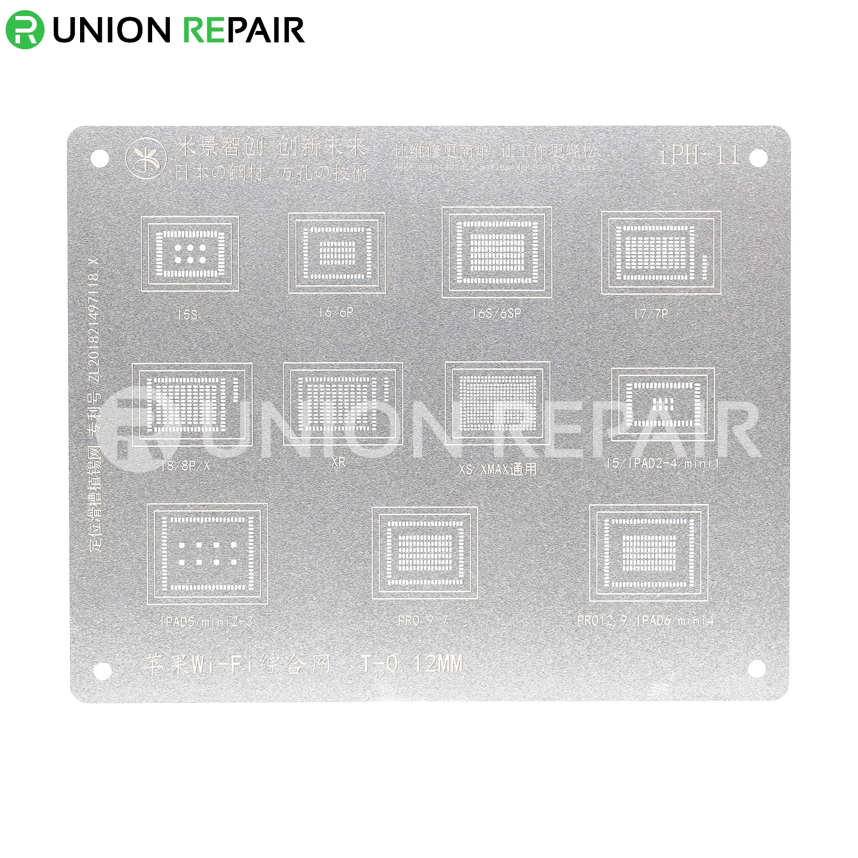 MiJing Universal WiFi BGA Reballing Stencil for iPhone/iPad All Series