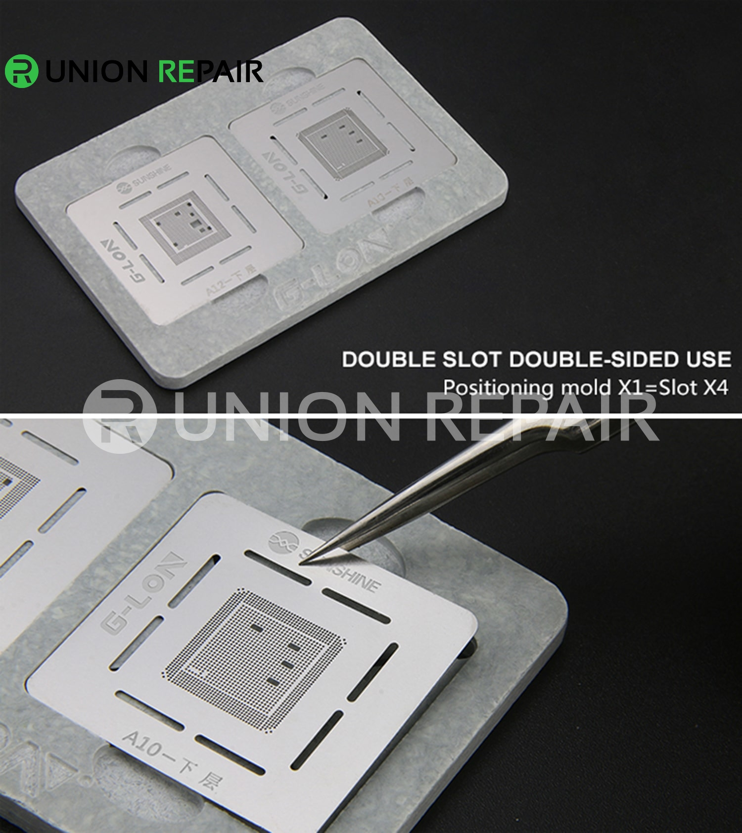 G-Lon S-601H Double Side Double Slot Position iPhone CPU Positing Mold A8-A12