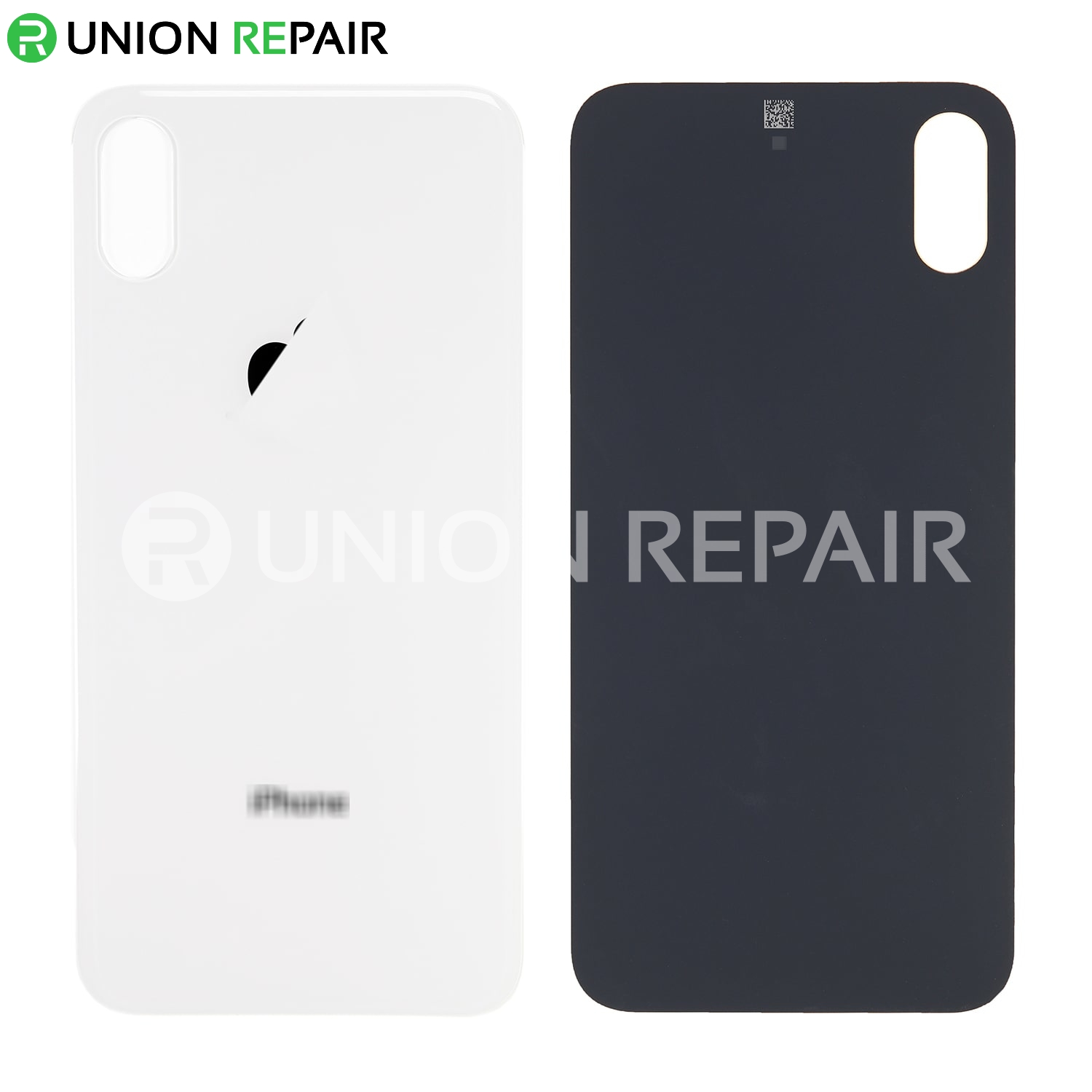 best service 055da 24381 Replacement for iPhone Xs Back Cover - Silver