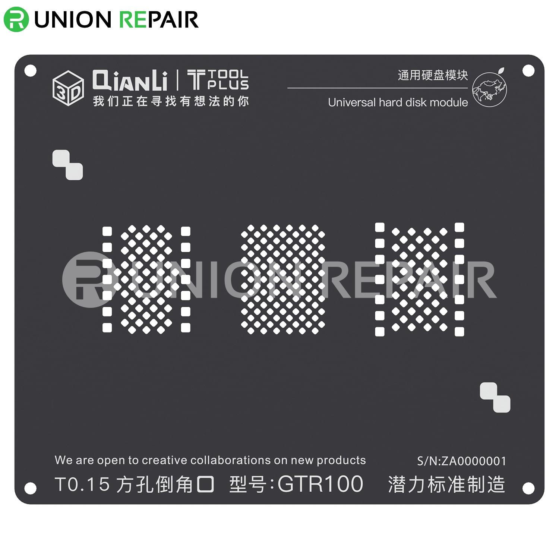 QianLi ToolPlus 3D iBlack Universal Hard Disk Model GTR100 BGA Reballing Black Stencil for 6/6S/7/8