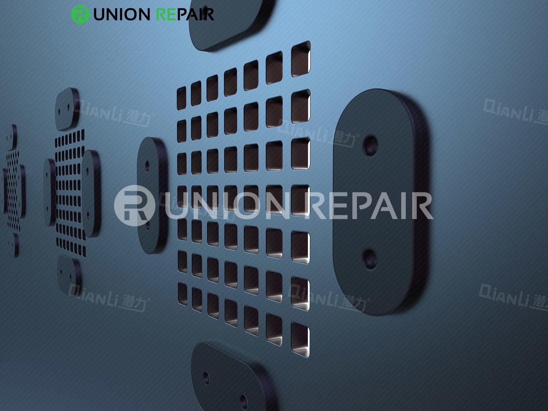 QianLi ToolPlus 3D iBlack Communication Base Band BGA Reballing Black Stencil, Type: For 5S Q4