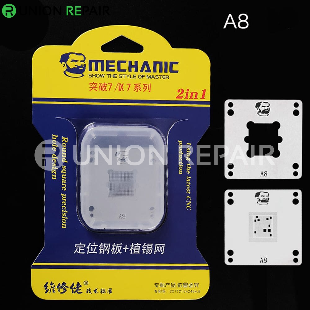 Mechanic IX7 220V Mini Thermostat Remove Welding Platform for CPU A8 A9 A10 A11 A12, Condition: A8 Positioning Plate Stencil