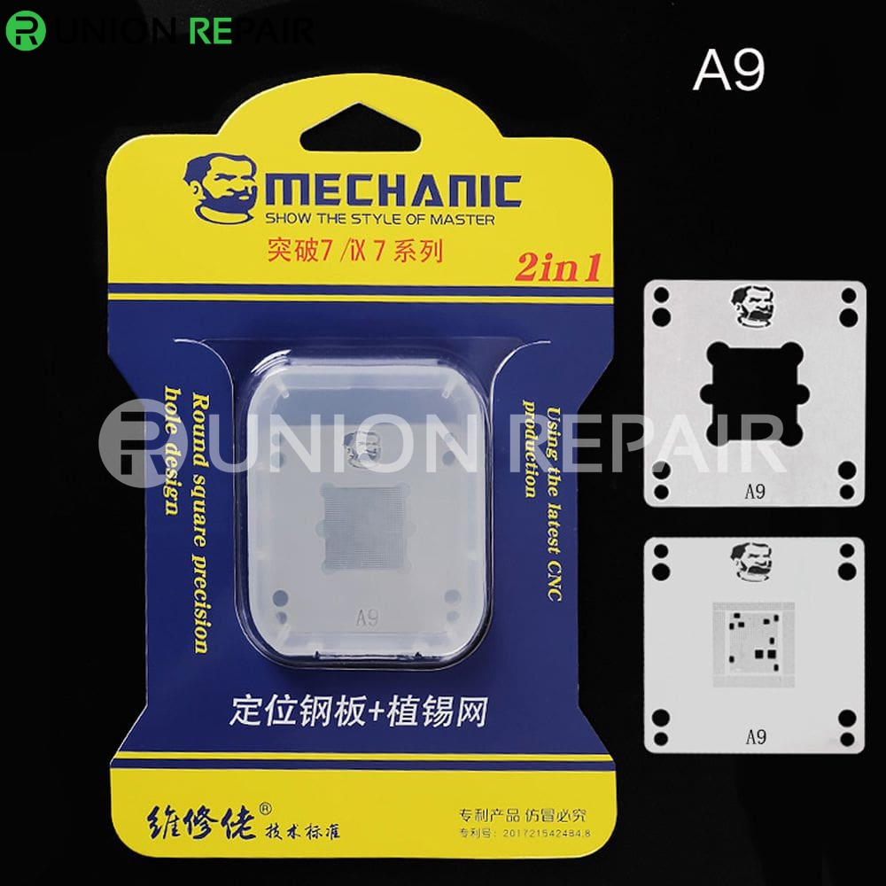 Mechanic IX7 220V Mini Thermostat Remove Welding Platform for CPU A8 A9 A10 A11 A12, Condition: A9 Positioning Plate Stencil
