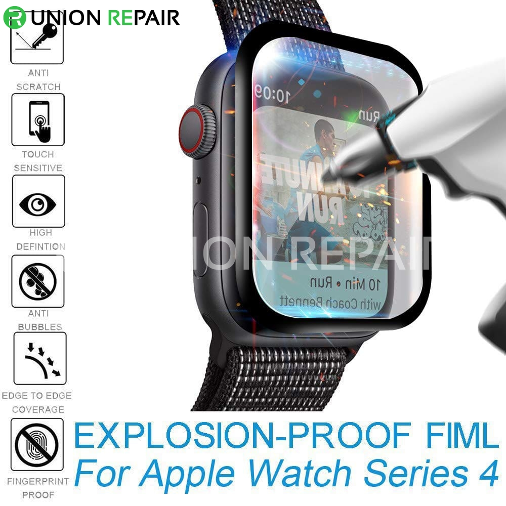 Curved Edges Tempered Glass Film Screen Protector for Apple Watch S4