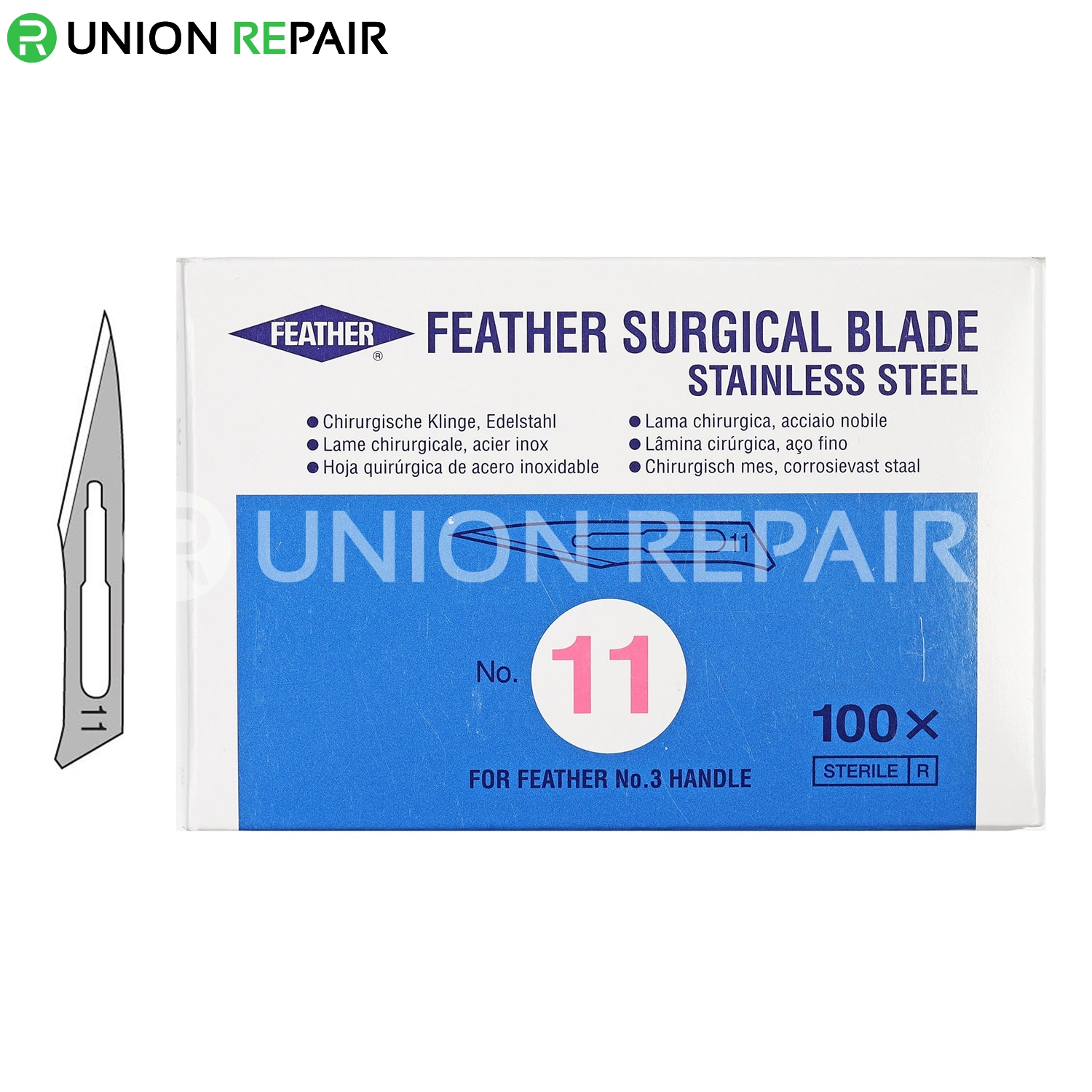 Feather #11 Sterile Surgical Blades (100pcs/box)