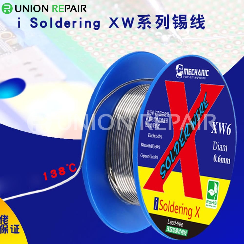 Mechanic i Soldering XW Low Temperature 138 Degree Welding Wire for iPhone X/XS/XR/Xs MAX