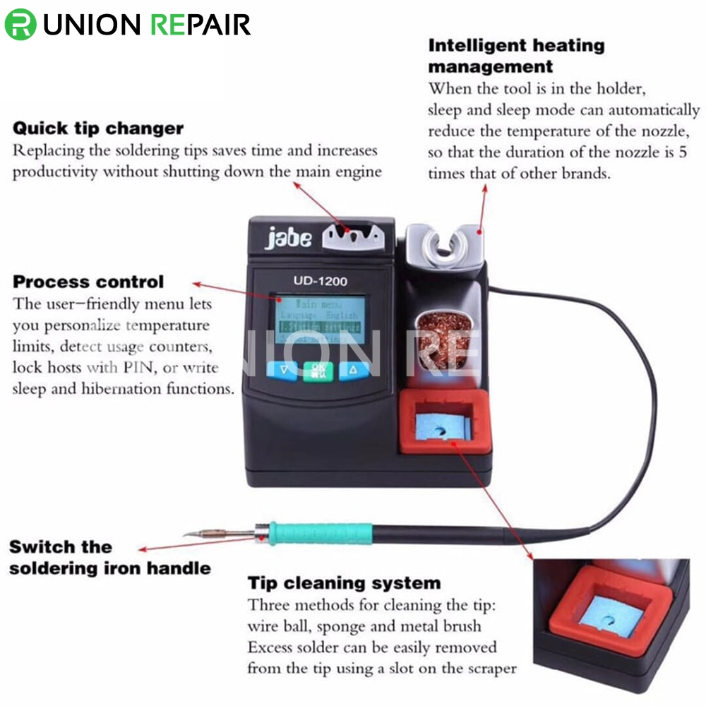 Jabe UD-1200 Precision Intelligent Lead-free Soldering Station
