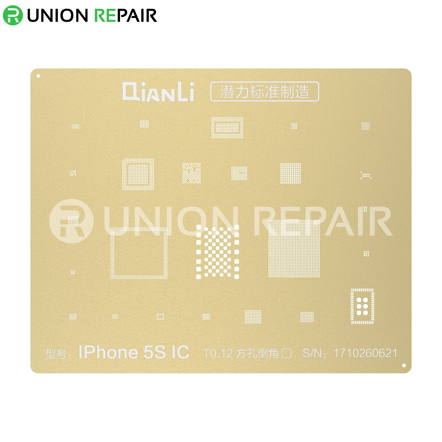QianLi  Laser Tech BGA Reballing Stencil, Type: For iPhone 5S