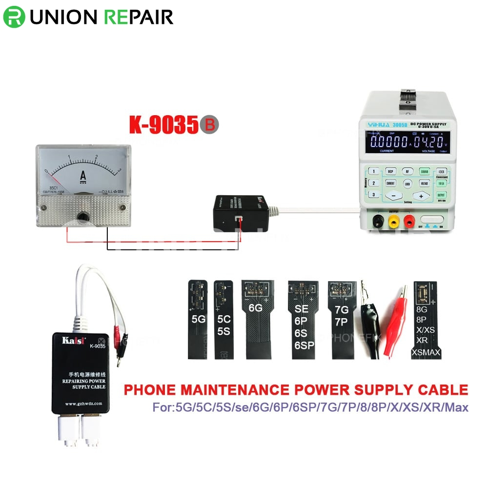 Kaisi K-9035B Power Supply Cable With Multimeter for iPhone 5S-XR