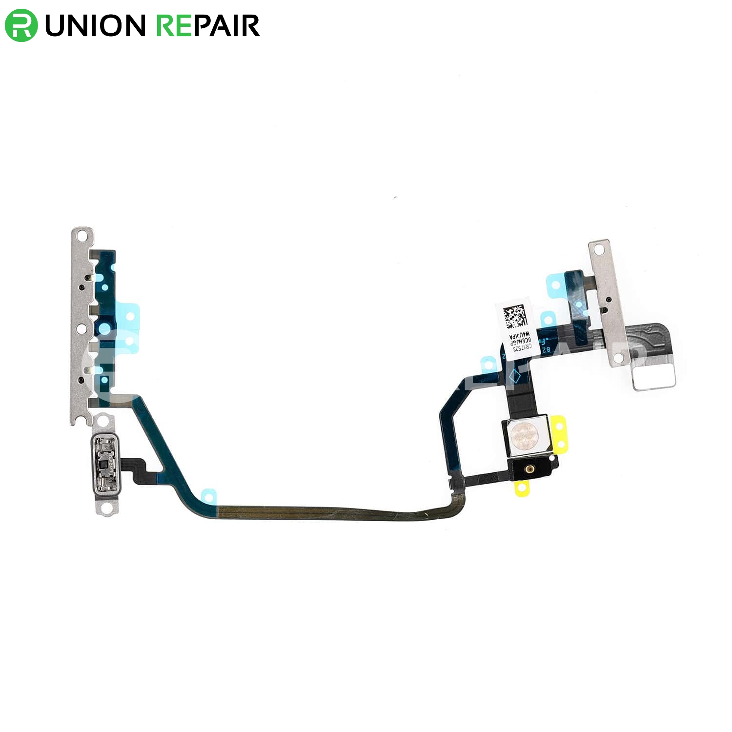 Replacement for iPhone XR Power/Volume Button Flex Cable with Metal Bracket Assembly