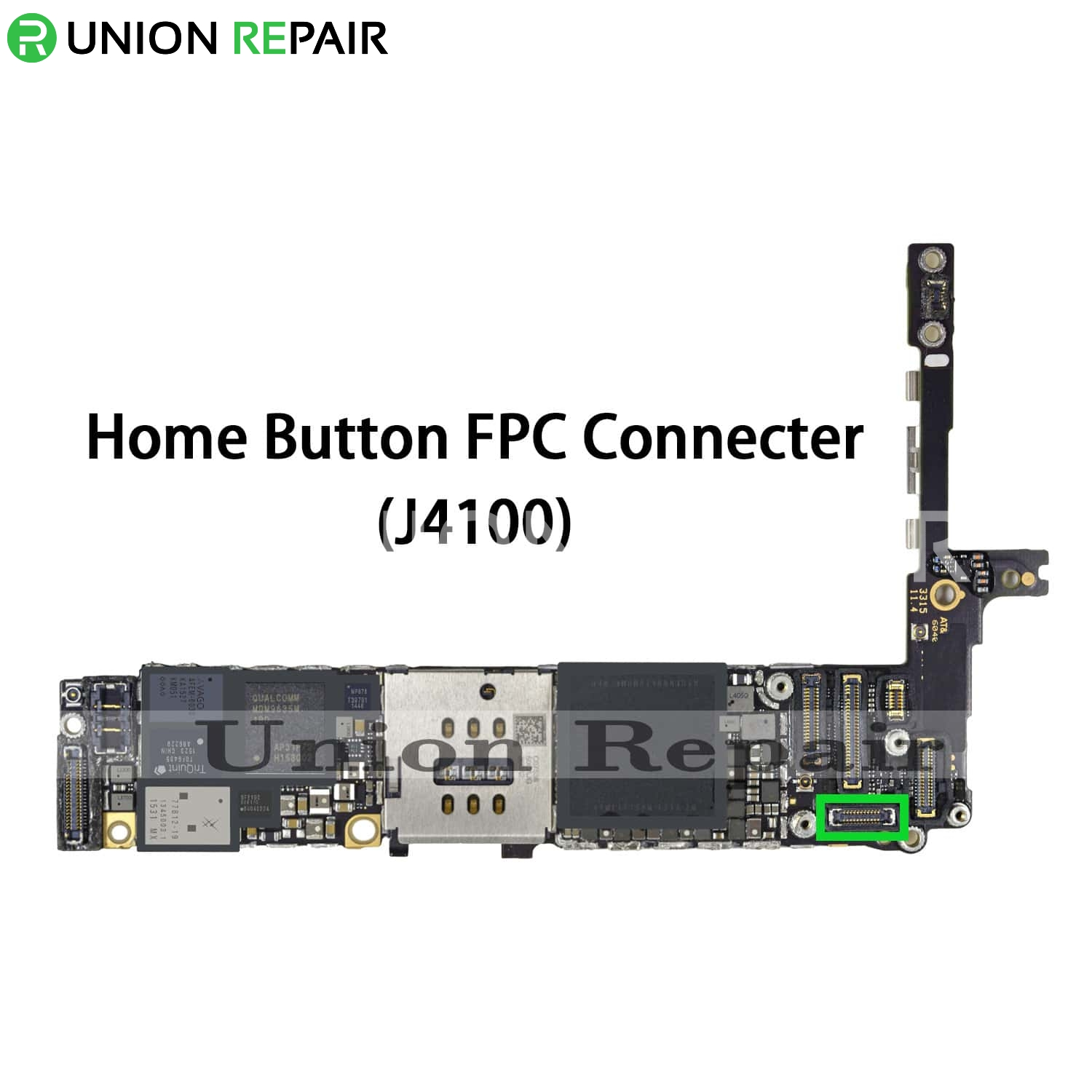 reputable site a7edd 34e18 Replacement for iPhone 6S Plus Home Button Connector Port Onboard