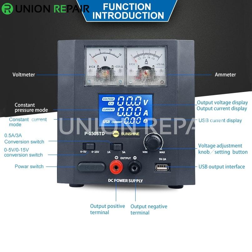 P-1505TD Intelligence Switching Regulator 5A15V DC Power Supply