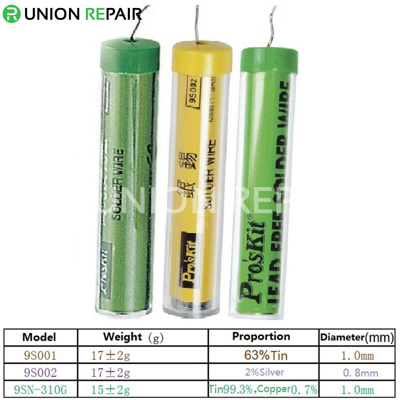 Pro'sKit Lead Free Solder Wire, Type: Pro'skit 9SN-310G