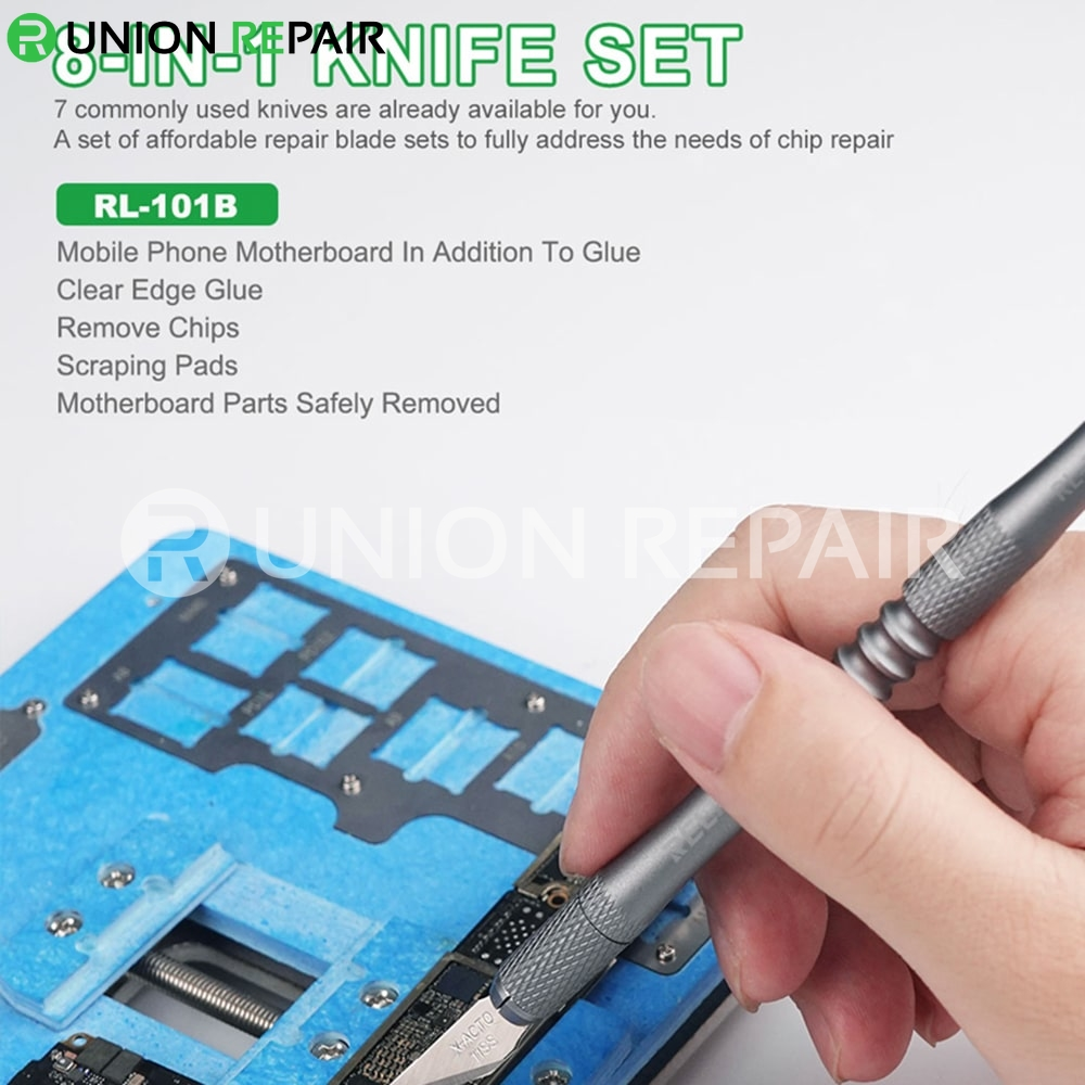 RELIFE RL-101B 8 in 1CPU Remove Glue Blade Knife Set