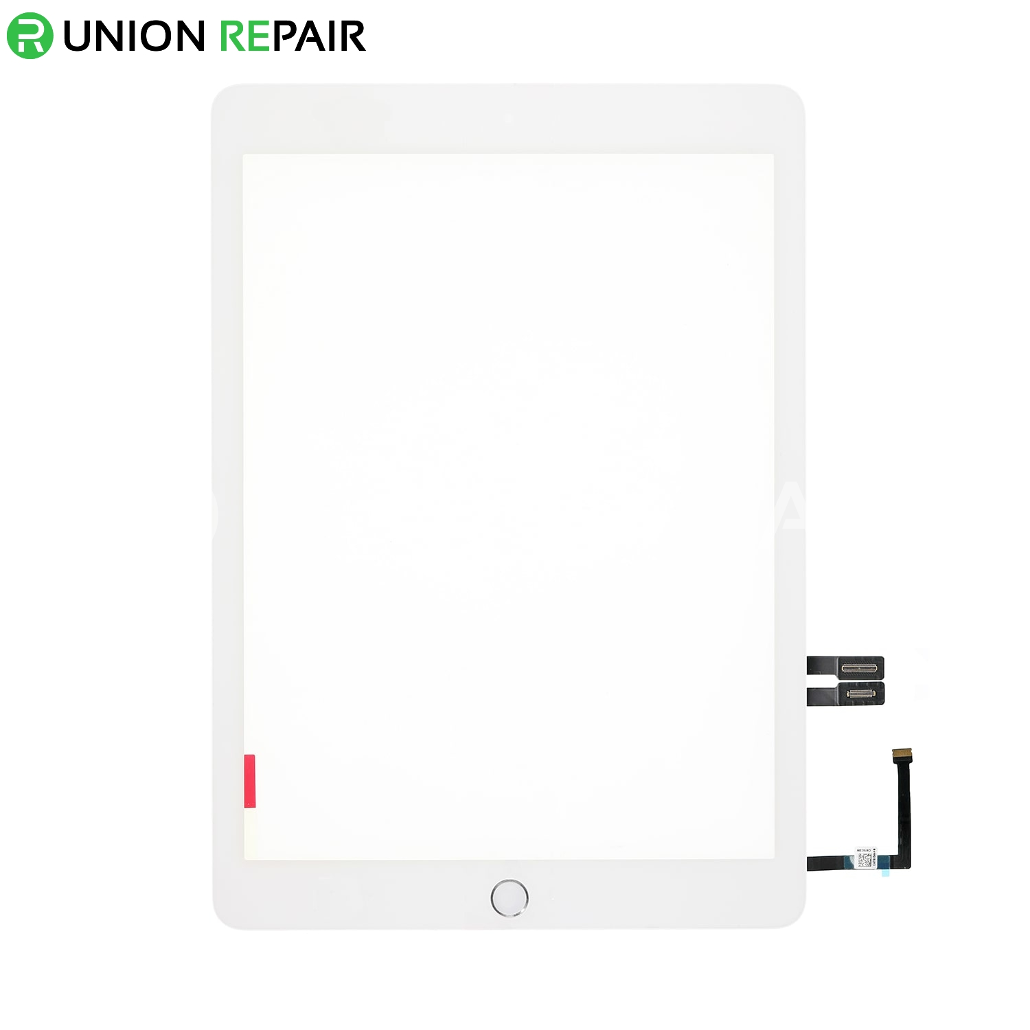 Replacement for iPad 6 Touch Screen Assembly with Silver Home Button Assembly - White