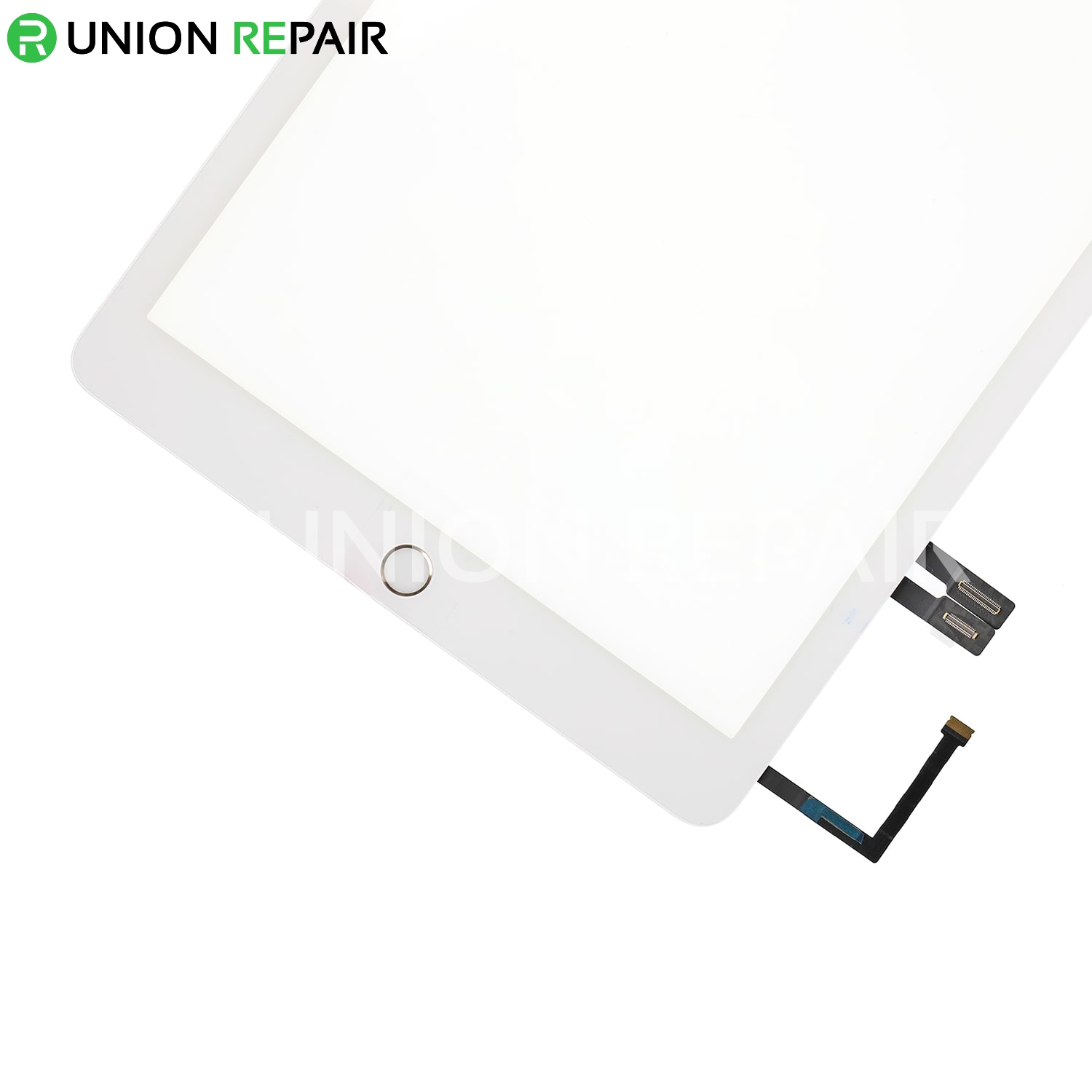 Replacement for iPad 6 Touch Screen Assembly with Gold Home Button Assembly - White
