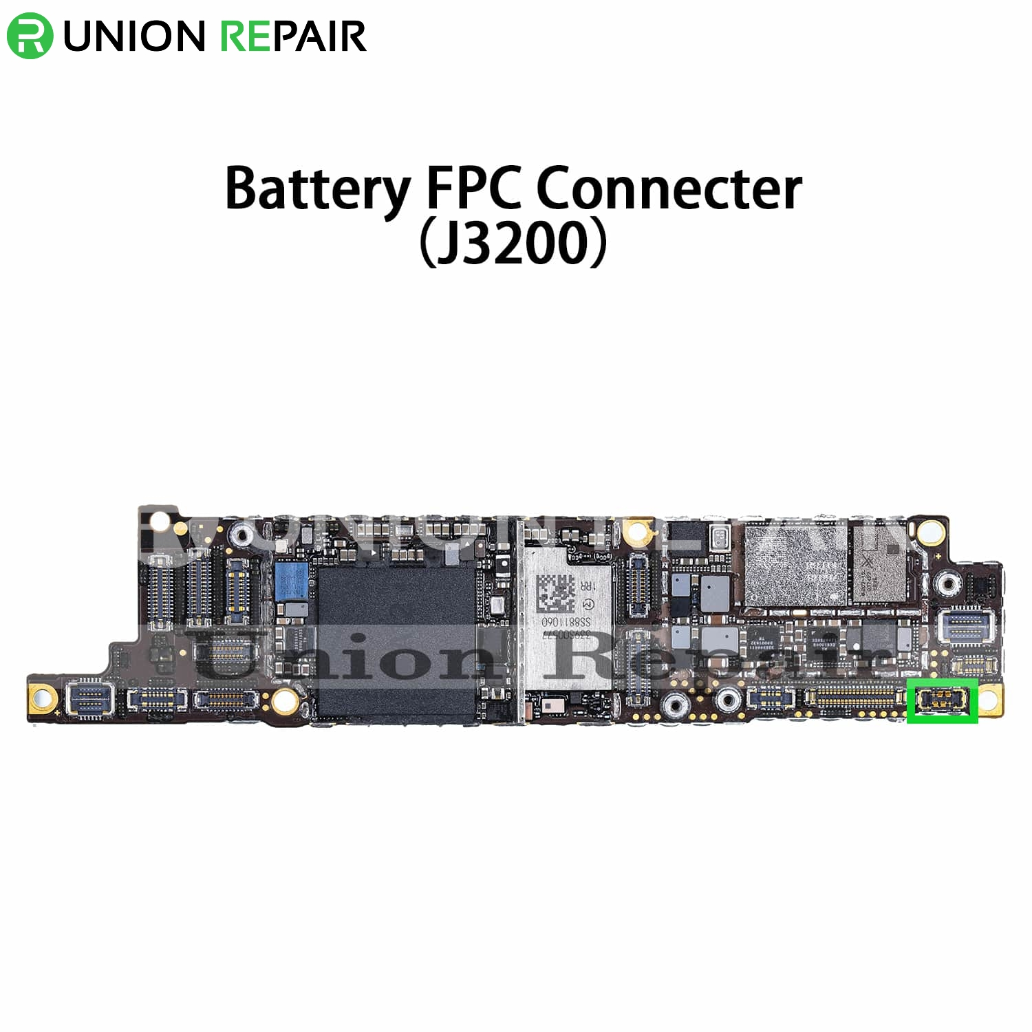 Replacement for iPhone XR Battery Connector Port Onboard
