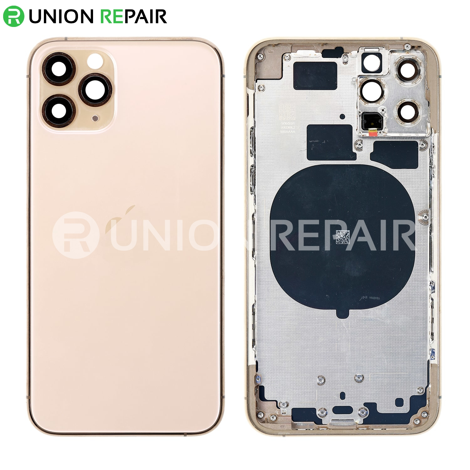 Replacement for iPhone 11 Pro Rear Housing with Frame - Gold