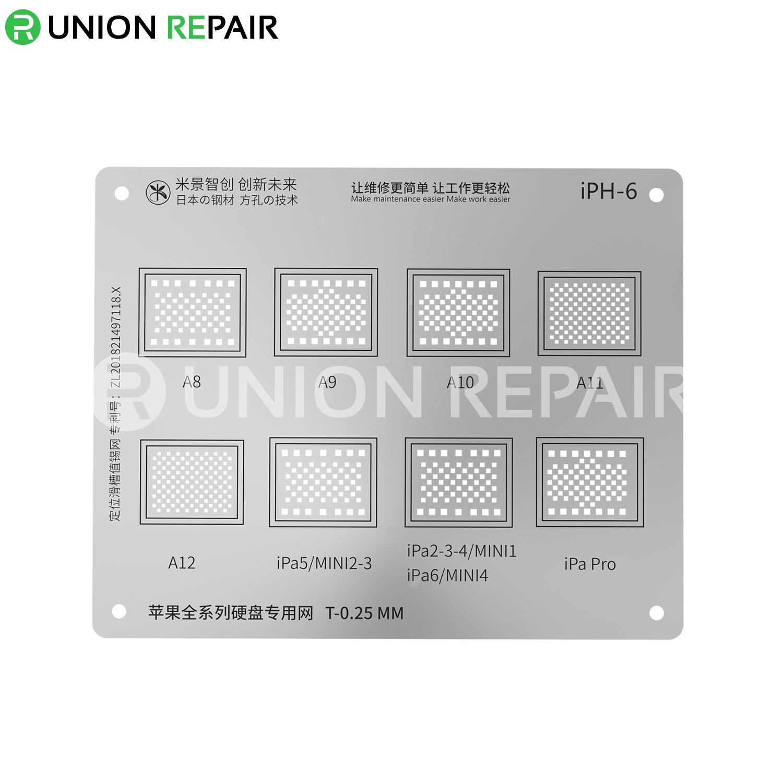 MiJing Universal Hard Disk BGA Reballing Stencil for iPhone/iPad All Series