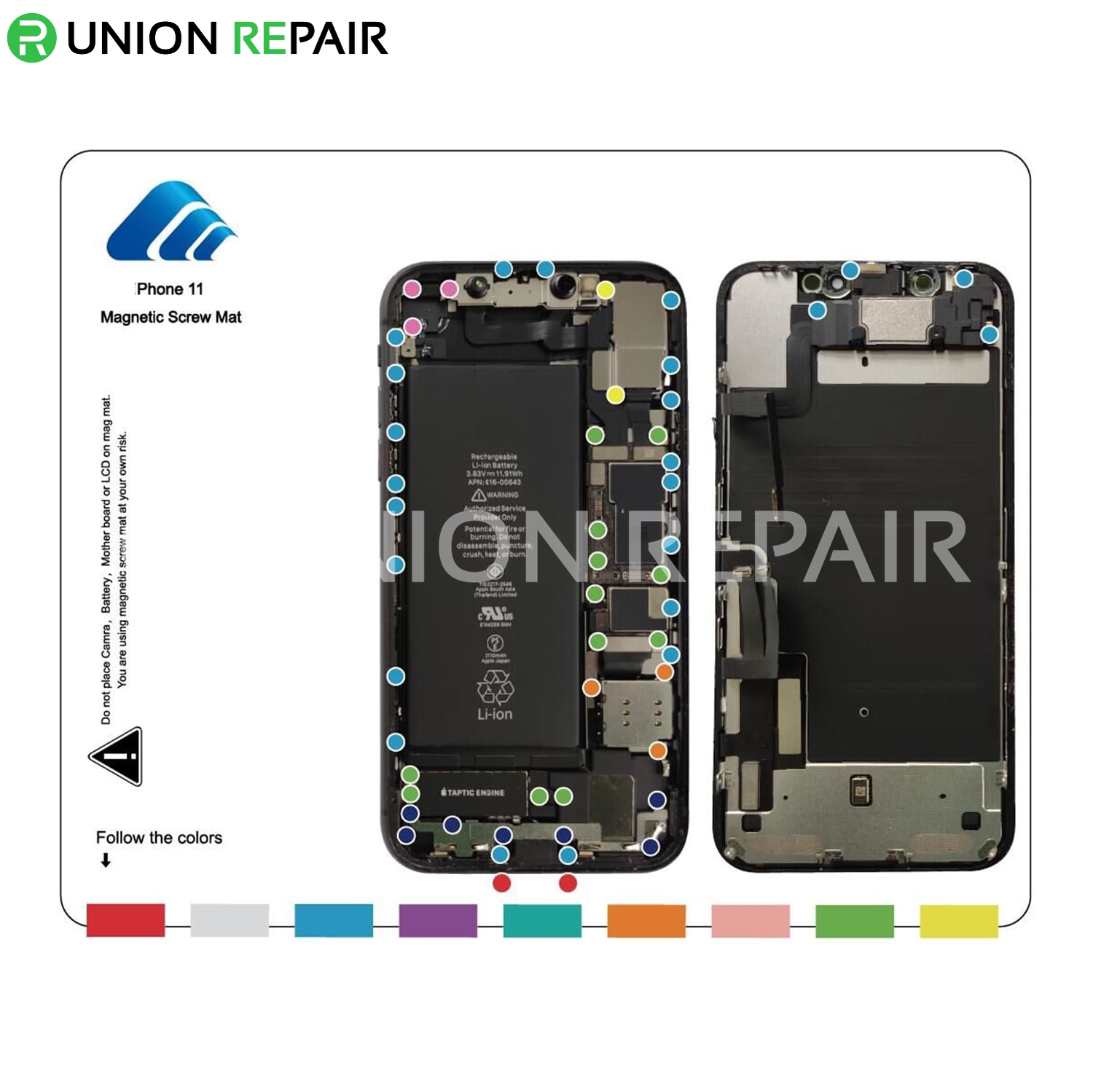 Magnetic Screw Mat for iPhone 11