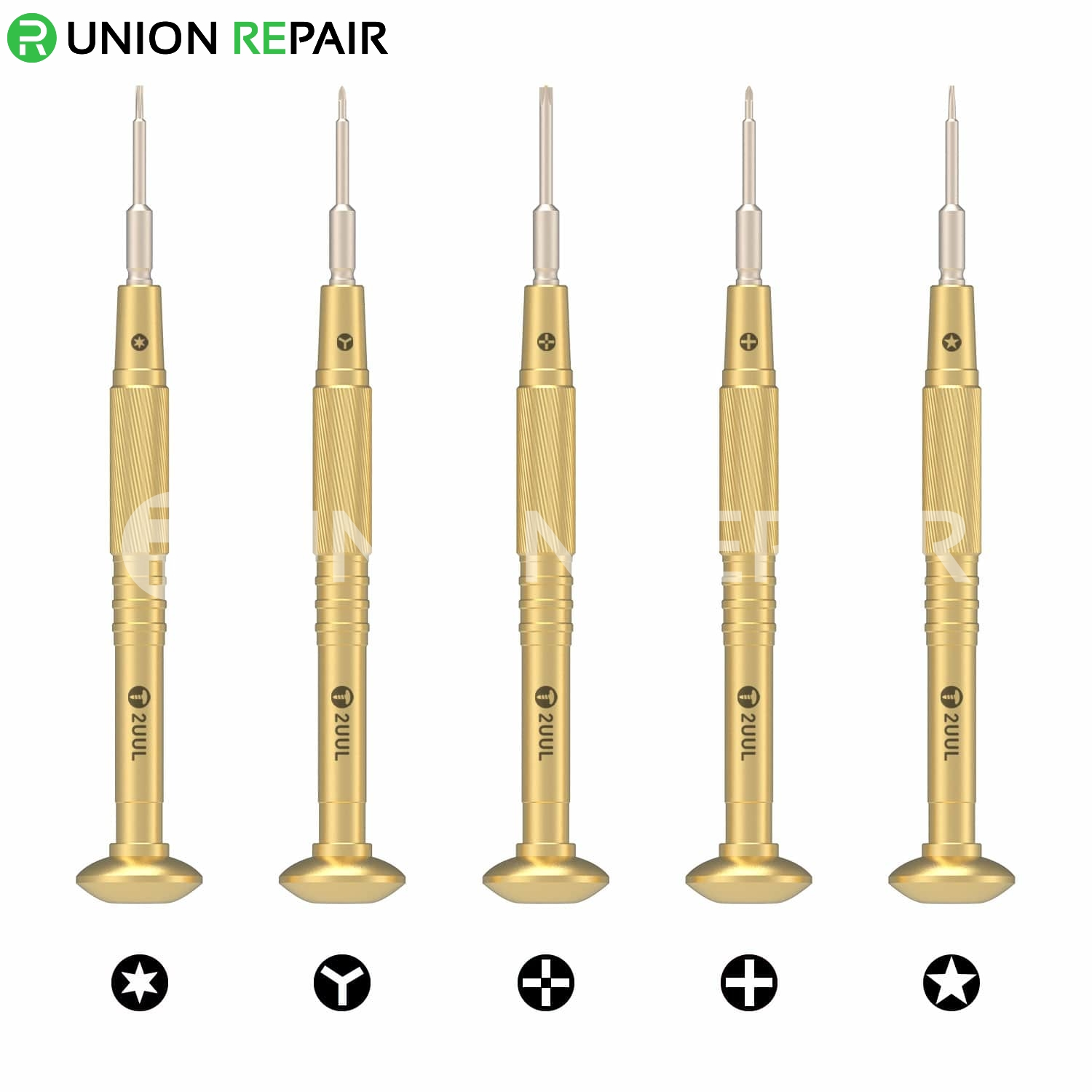 2UUL Brass Handle Heavy Weight Screwdriver for Phone Repair