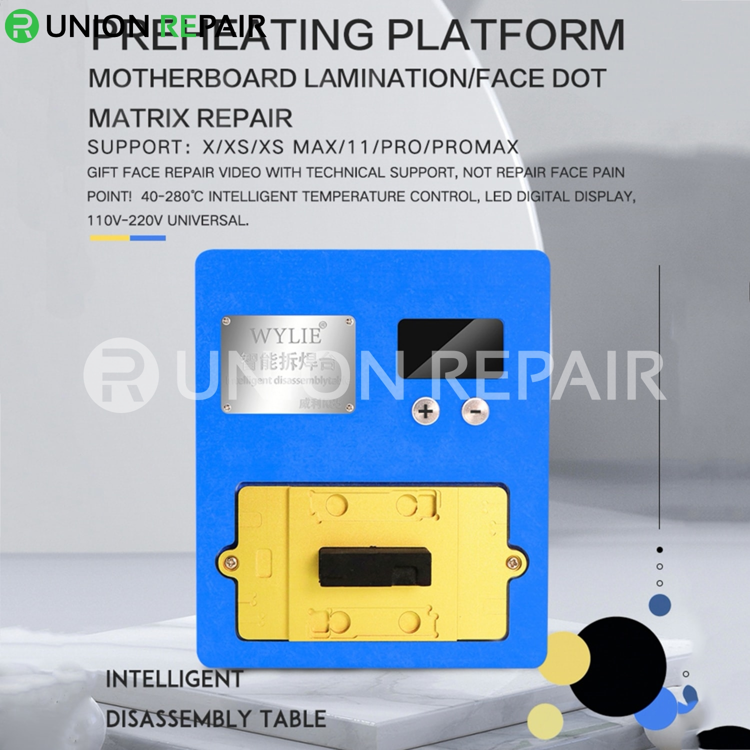 WYLIE K85 Preheating Platform for iPhone Motherboard Face Dot Matrix Repair