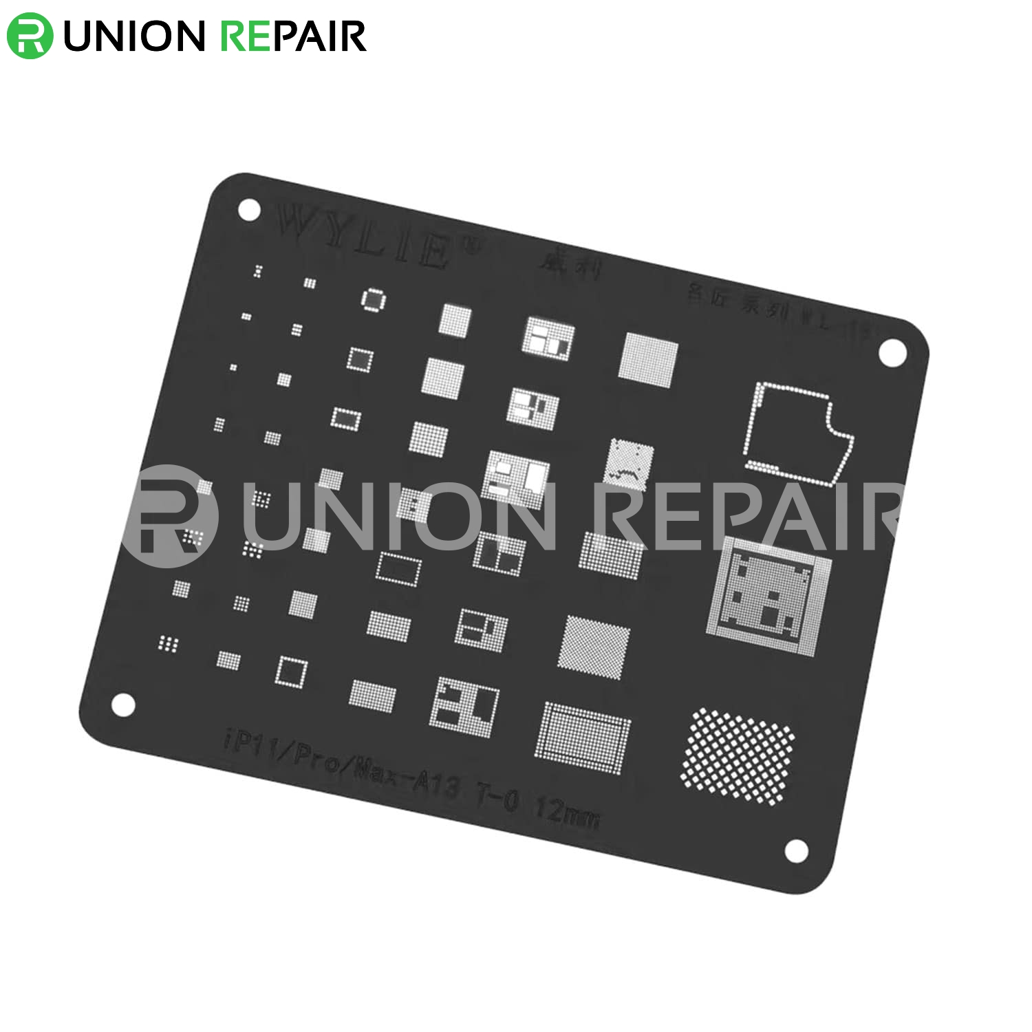 WYLIE Black BGA Reballing Stencil for iPhone 5/6/7/8/X/Xs/11/11Pro/Max, Condition: For iPhone 11/11Pro/11ProMax