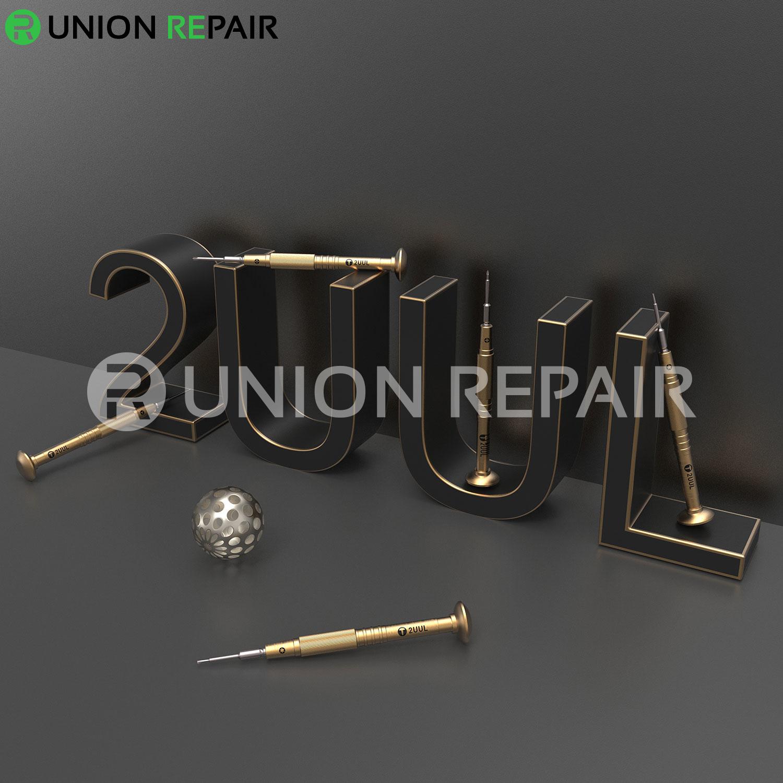 2UUL Brass Handle Heavy Weight Screwdriver for Phone Repair