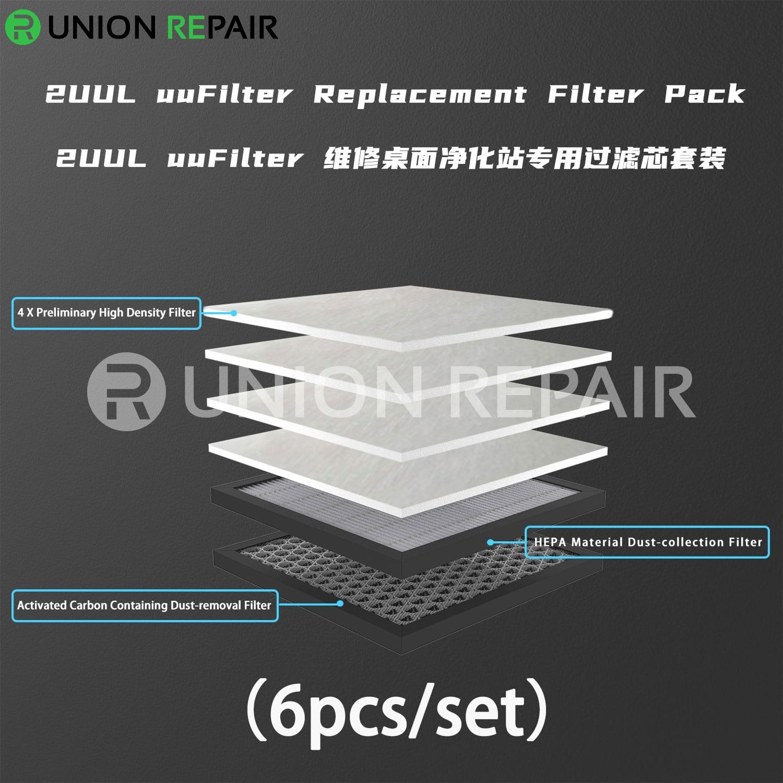 2UUL uuFilter DeskTop Fume Extractor, Condition: Filter Net (6pcs/set)
