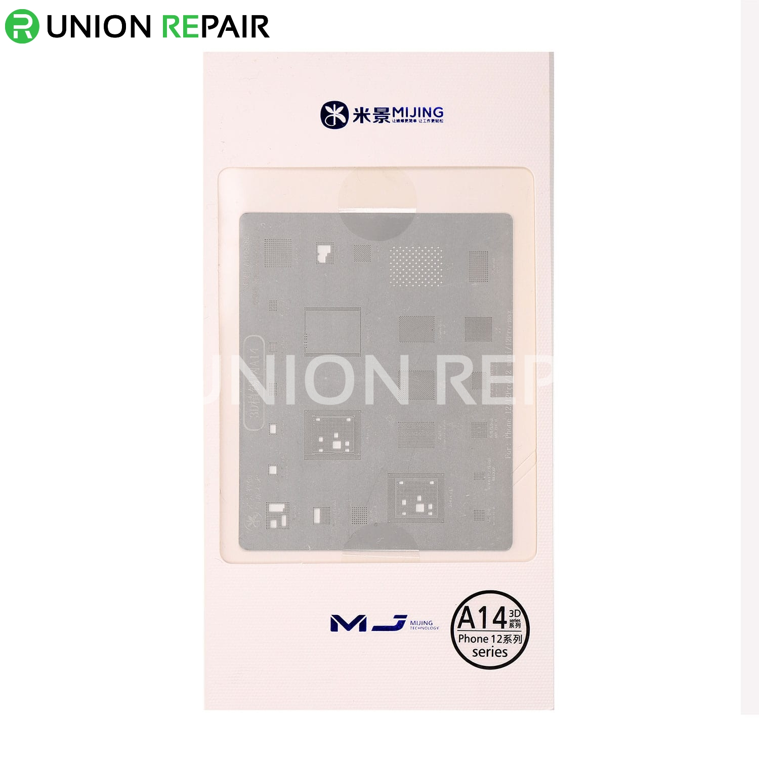 MiJing 3D BGA Reball Stencil for iPhone A8/A9/A10/A11/A12/A13/A14, Type: For A14 iPhone 12 Series