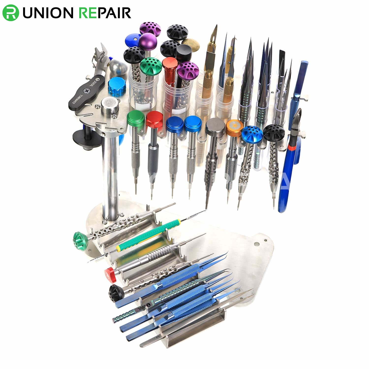 Aluminum Alloy Rotatable Screwdrivers Tool Weapon Rack, fig. 3