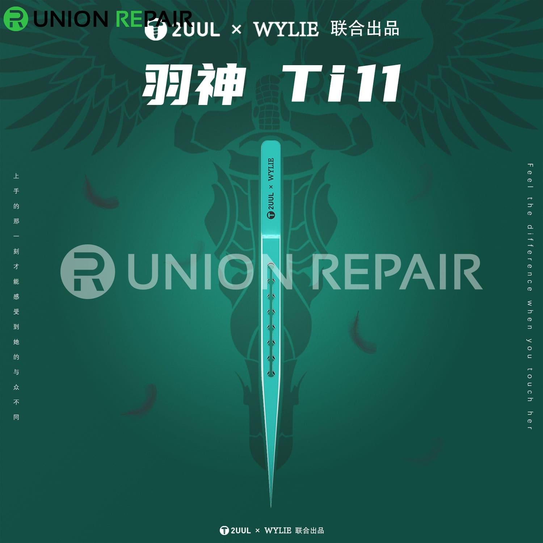 2UUL Titanium Alloy Ultralight Straight Tweezer Ti11