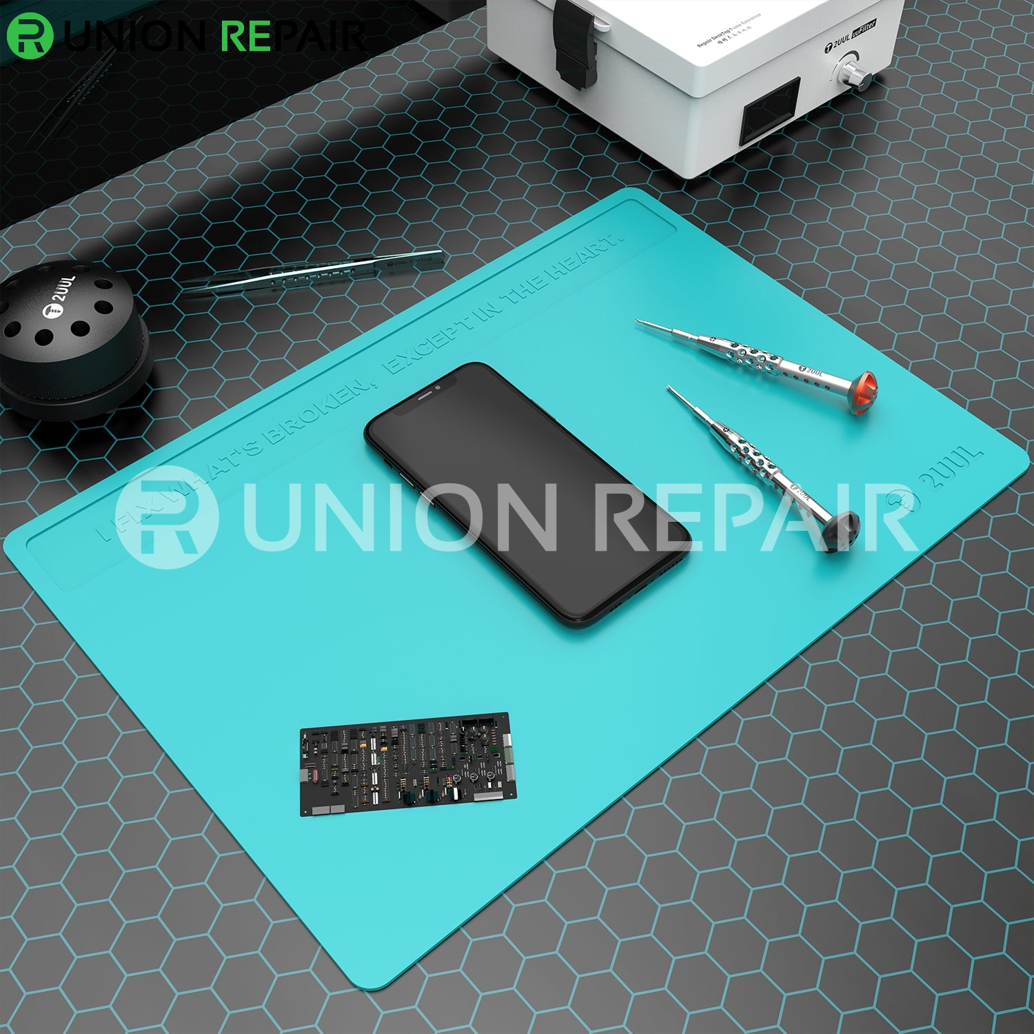 2UUL Heat Resisting Silicone Pad with Anti Dust Coating 400mm*280mm