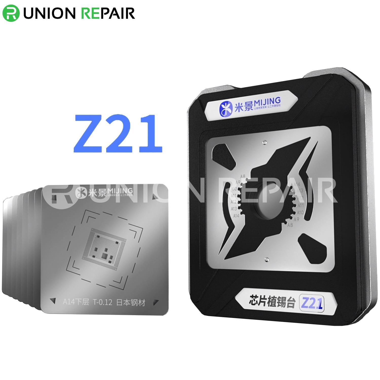 MiJing Z21 8-in-1 CPU Reballing Stencil for A8 A9 A10 A11 A12 A13 A14 A14S