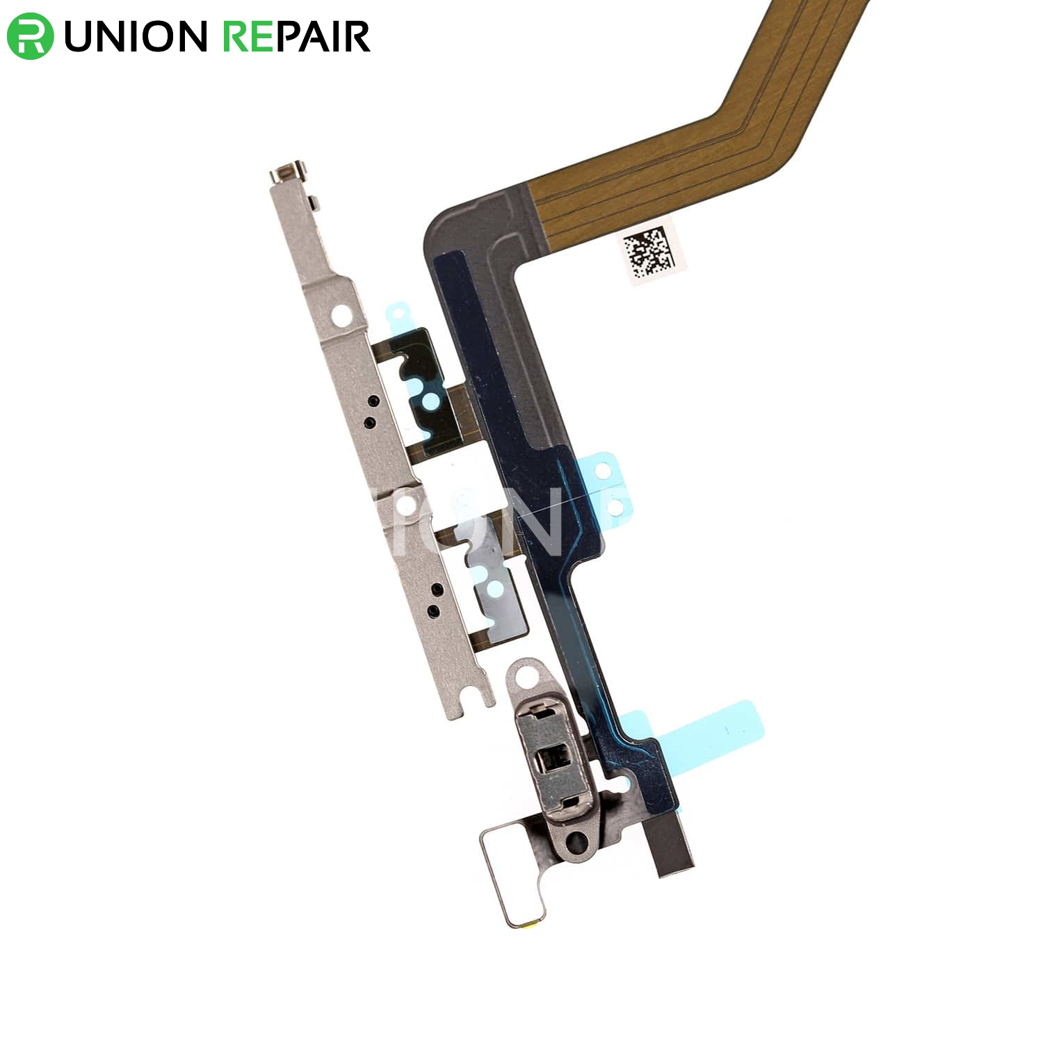 Replacement for iPhone 12 Pro Max Power Button Flex Cable with Metal Bracket Assembly