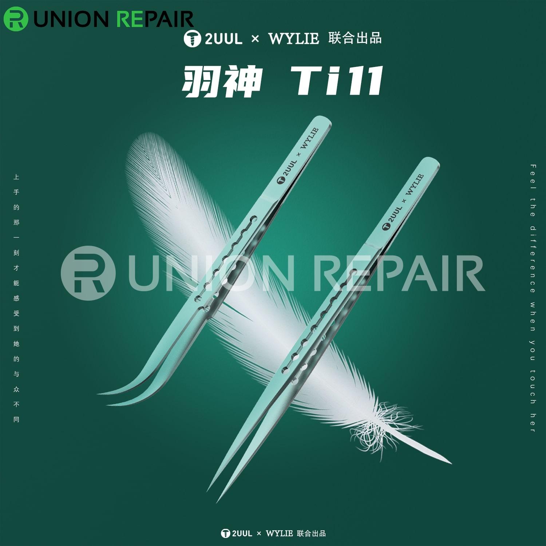 2UUL Titanium Alloy Ultralight Curved Tweezer Ti12
