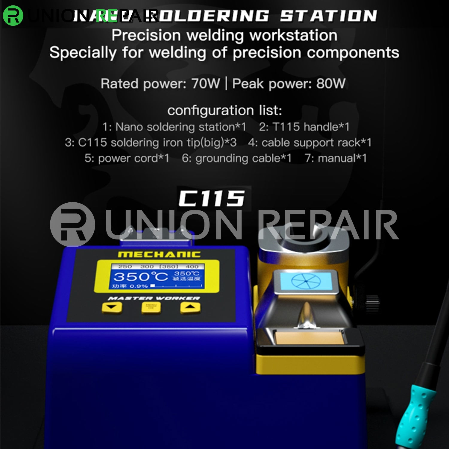 Mechanic MA-SD01 Micro Nano Soldering Station for T245 /T210 /T115 Handle Iron Head