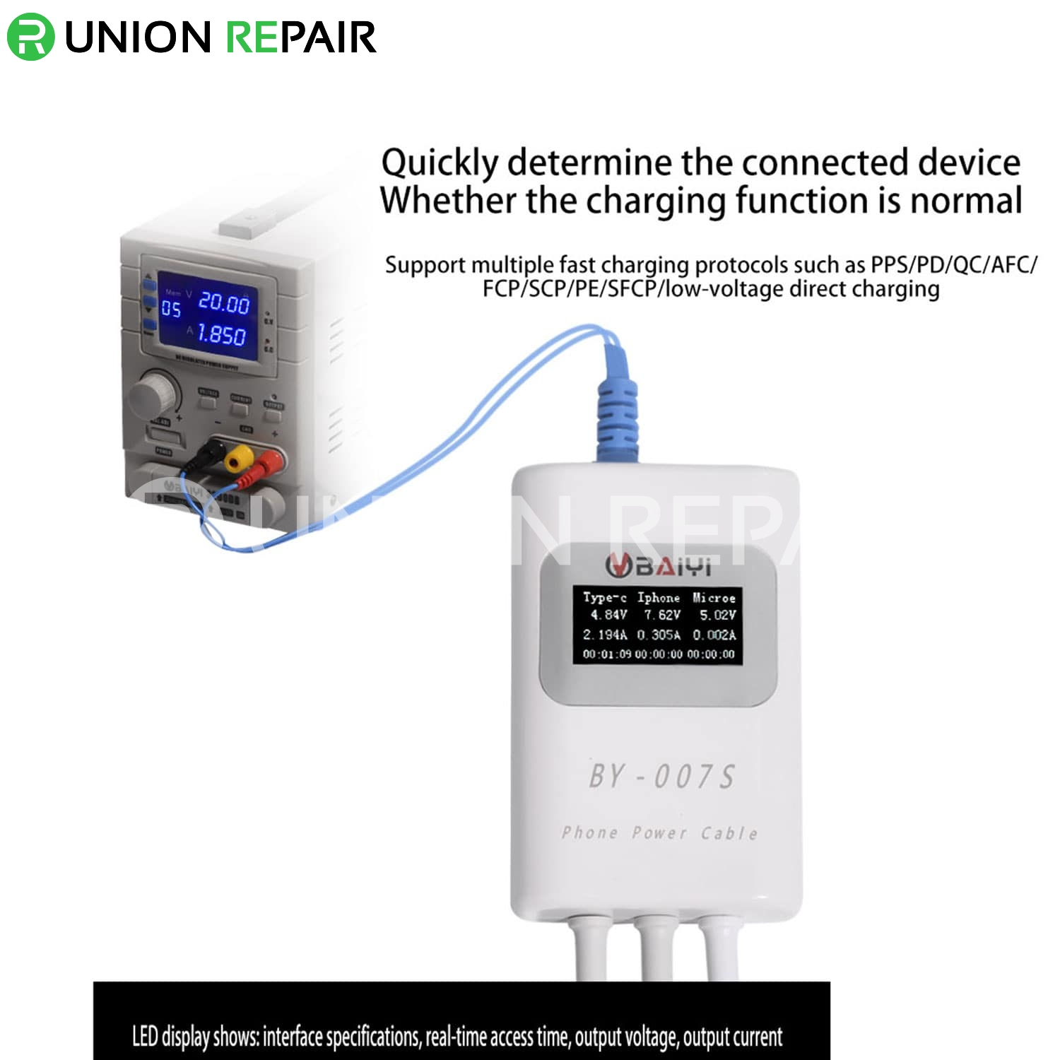 BY-007S Mult-Function Smart Charging Detection Line