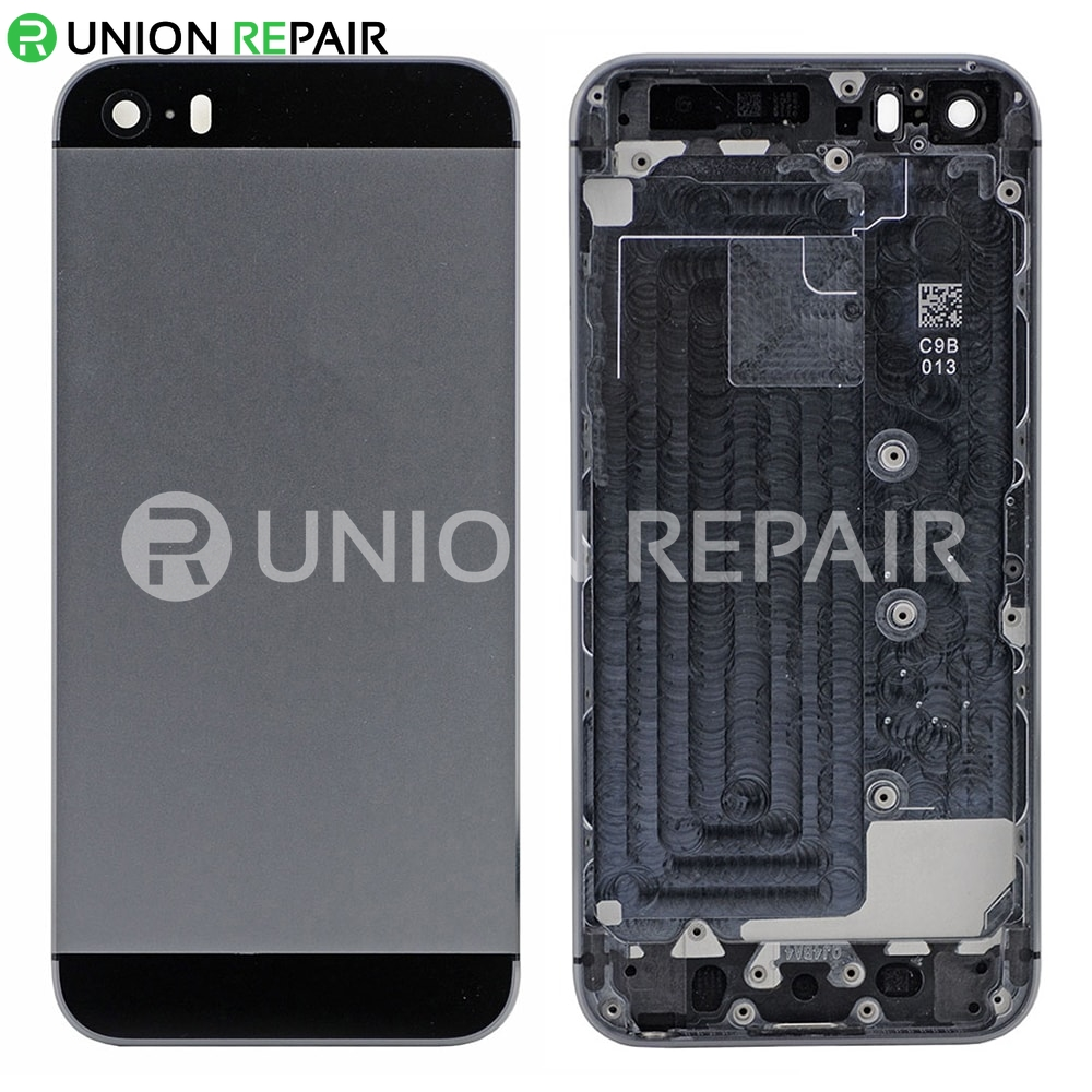newest d4604 3e351 Replacement for iPhone 5S Back Cover - Gray