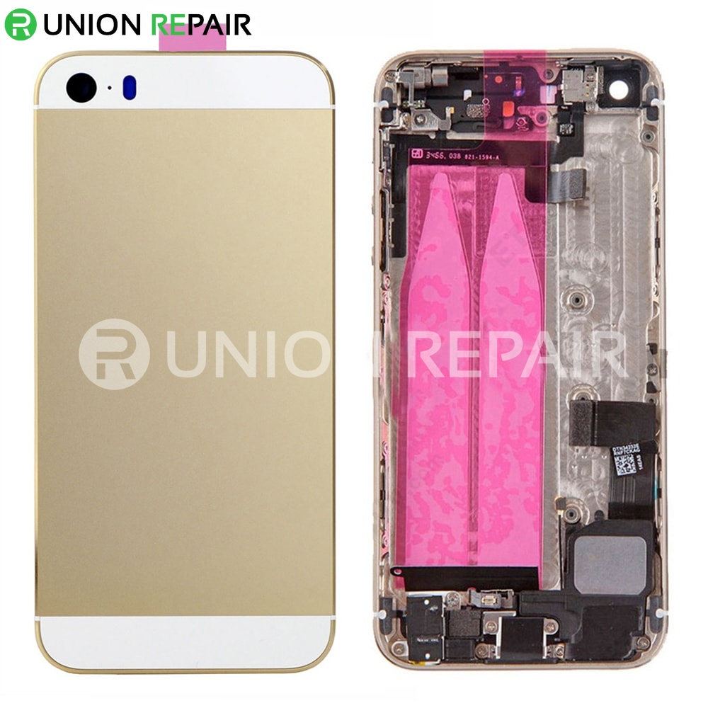free shipping 7e5c6 1099f Replacement for iPhone 5S Back Cover Full Assembly - Gold