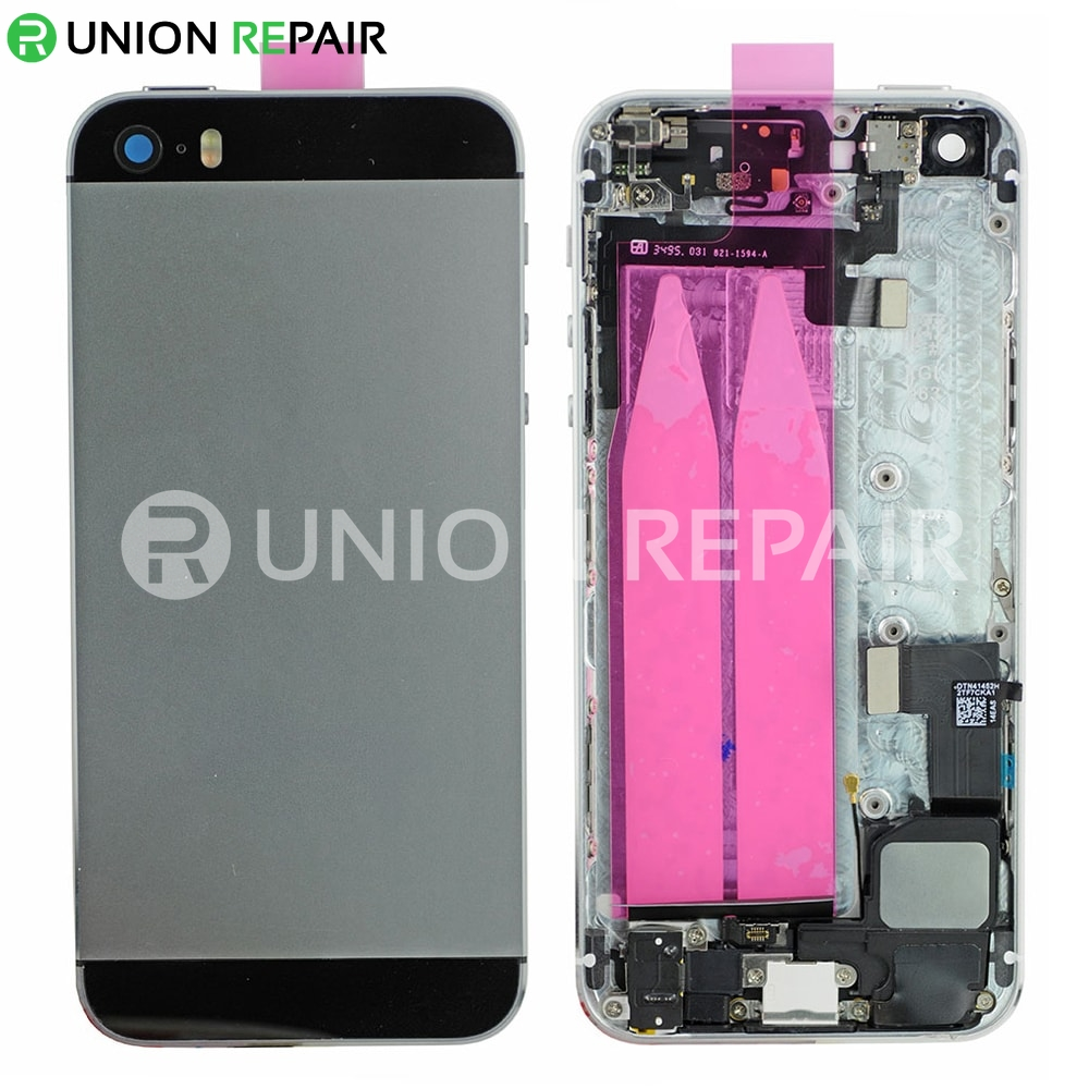 best service 4ea30 3146b Replacement for iPhone 5S Back Cover Full Assembly - Gray
