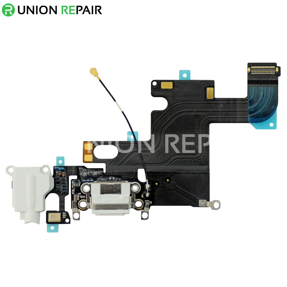 Replacement For Iphone 6 Headphone Jack With Charging Connector Flex Cable White