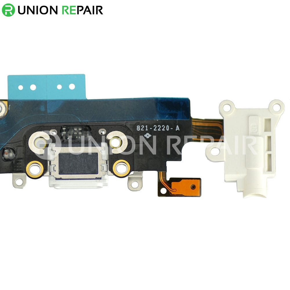 Replacement For Iphone 6 Plus Headphone Jack With Charging Connector Flex Cable White