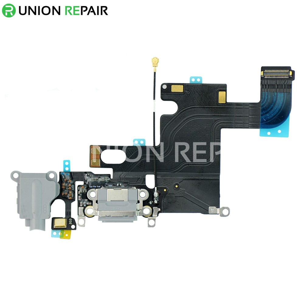 Replacement For Iphone 6 Headphone Jack With Charging Connector Flex Cable Dark Gray