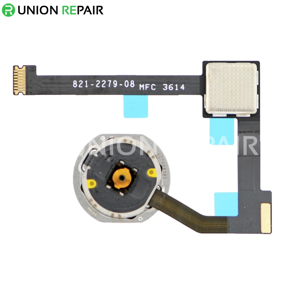 """Replacement for iPad Air 2/iPad mini 4 / iPad Pro 12.9"""" Home Button Assembly with Flex Cable Ribbon - Gold"""